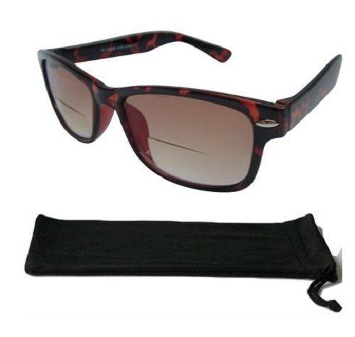 Wayfarer Bifokal Sonnenbrille Schildpatt vintage sunreaders 100% UV-404+ 2.25