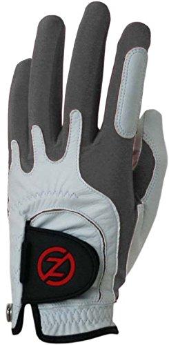 Zero Friction Null Reibung Herren Cabretta-Premium Leder Golf Handschuhe, Universal Fit One Size, Herren, GL70005, Silber, Einheitsgröße -