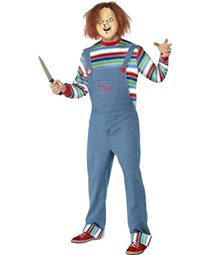 Chucky die Mörderpuppe Kostüm Filmkostüm M 48/50 Horrorkostüm Chucky Outfit Halloweenkostüm Horrorkostüme ()