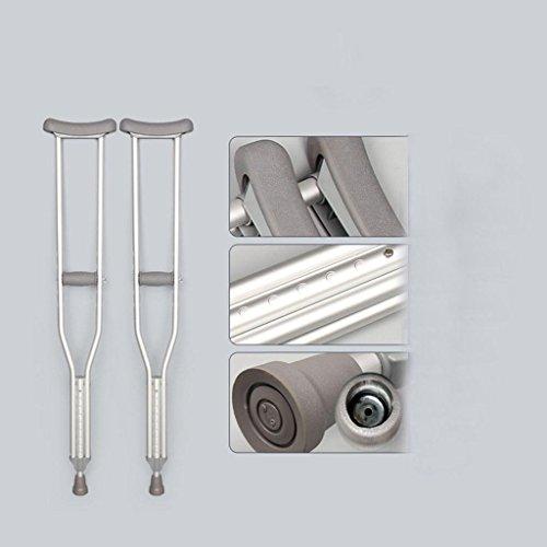 Stampella ascellare in alluminio lega pazienti portatori