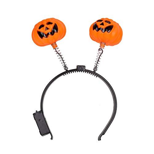 Kaitoshiratori Halloween Mode glühendes Licht Kürbis-Stirnband Halloween Partei -