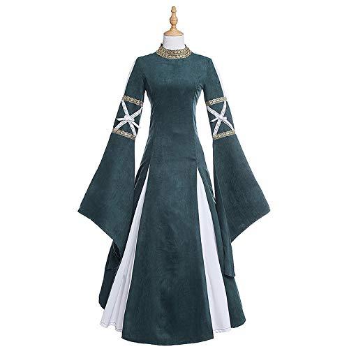wojiaxiaopu Halloween Kostüm Erwachsene Frau mittelalterlichen Retro