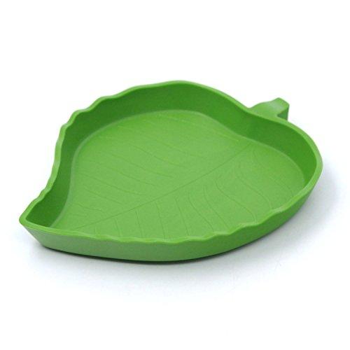 thinkpet-plastic-reptile-food-and-water-bowl-terrarium-dish-aquarium-ornament-leaf-l