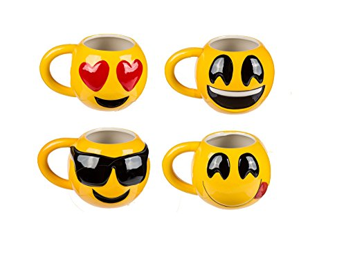 Bada Bing Lustige Jumbo XL Tasse Emoji Emotionen Smiley Kinder 8247