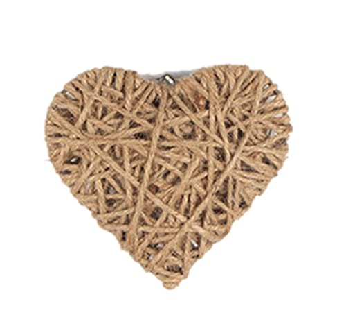 Icegrey Handmade Hemp Rope Weave Art decorazione da parete a forma di cuore, canapa, As Picture, 6.24