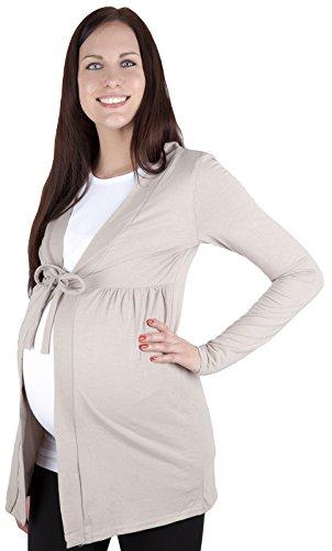 """Mija – Cardigan pour les Femmes et de maternité Bolero """"Betty"""" 7105 Beige"""