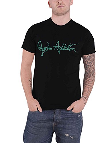 Janes Addiction T Shirt Script Band Logo Nue offiziell Herren