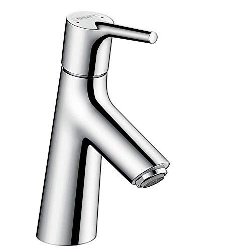 hansgrohe Wasserhahn Talis S (Armatur mit Auslauf Höhe 80mm und Zugstangen-Ablaufgarnitur) Chrom