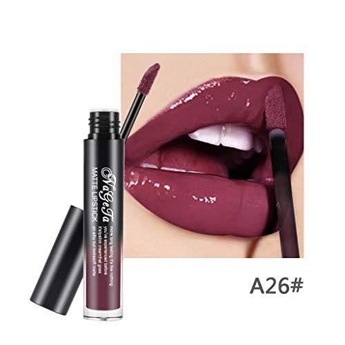 8 Schatten Lippenstift mit 24h Halt ohne auszutrocknen, mit intensiver Farbabgabe, präzisem Applikator & intensiv pflegendem Gloss-Top Coat wasserdichtes By Vovotrade -