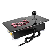 Hanbaili Acryl-Nullverzögerung-Arcade-Spiel-Videospiel 8 Anfahrt Wired Stick Joystick Controller-Konsole für PC Android