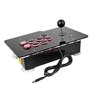 Cewaal Hanbaili Acryl-Nullverzögerung-Arcade-Spiel-Videospiel 8 Anfahrt Wired Stick Joystick Controller-Konsole für PC Android