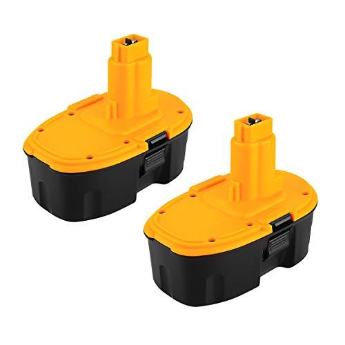 POWER-XWT 18V 3,0Ah 2PC Ni-MH batteria di ricambio per Dewalt DE9098 DE9095 DE9096 DE9096 DW9095 DW9098 DE9503 DC9096 Batteria di ricambio Dewalt 18V