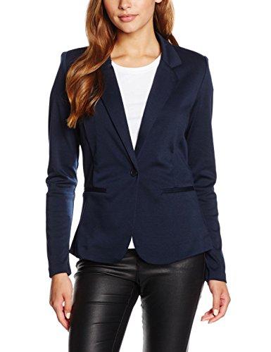 ICHI Damen Anzugjacke Kate BL,Blau (Total Eclipse Melange 14044),36 (Herstellergröße: S)