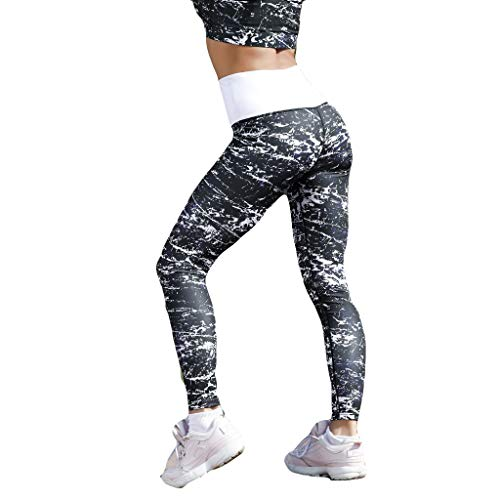 Cardith Damen Mode Marmor Digital Gedruckt Yoga Hose hoch Taille Und Hüfte Bottoms Running Fitness Hosen Bootcut-jean Bottoms Jeans