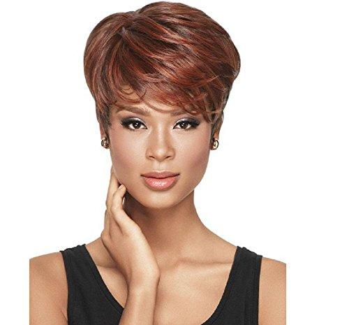 Partei Und Zubehör Brown Rosa (Art und Weise kurze flaumige lockige Frauen-Perücken Ombre Brown-Wellen-Haar-Perücken Hochtemperatur-Faser-synthetisches Haar mit)