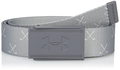 Under Armour Range 2 Webbing Ceinture Homme, Steel, OSFA