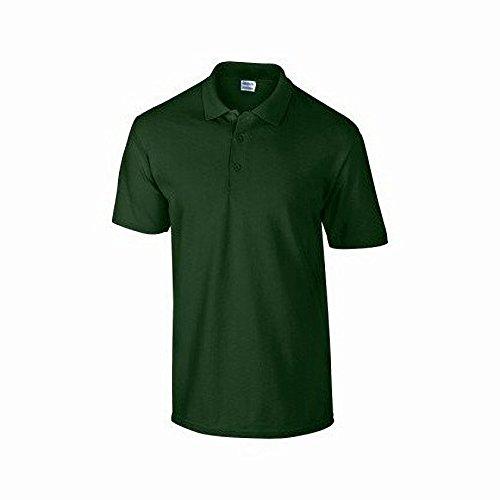 Gildan DryBlend Herren Pique Polo-Shirt, Kurzarm Waldgrün