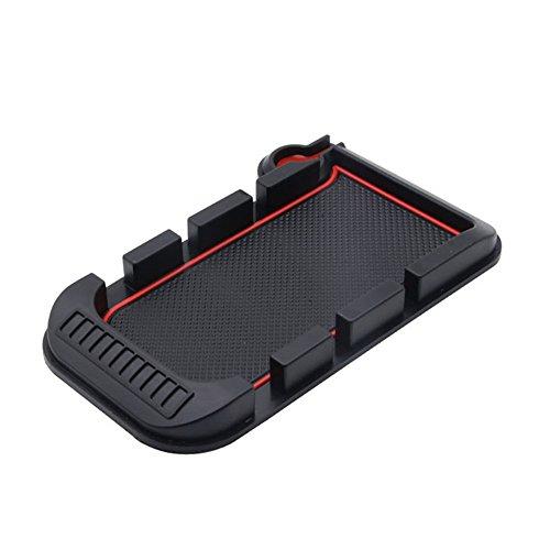 HCMAX 3-Slot Handyhalterung Auto Autotelefonhalter Pad Strich Matte Docking-Station Mit 3 in 1 Ladekabel für iPhone X / 8/7 / plus Samsung Galaxy GPS und mehr Auto-docking-station