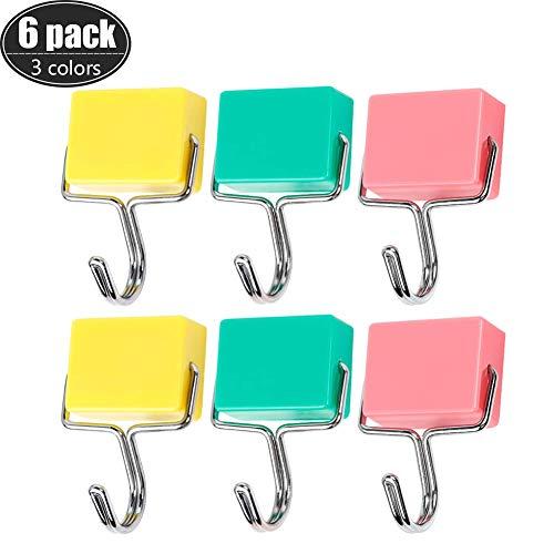 Magnethaken Kreative Allzweckküche Super Starker Magnet Kostenlose Nägel Haken für Werkstatt Büro Garage Küche Mikrowelle Kühlschrank Badezimmer Kühlschrank Türen Last 2kg (Gesamtmenge 6Pack)