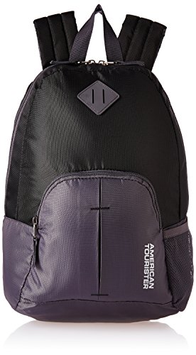 American Tourister 20 Ltrs Black Small Casual Backpack (AMT HOOP BACKPACK-BLACK)