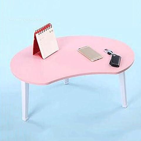 GAOLILI Free To Install Collapsible Notebook Computer Schreibtisch College Bett mit kleinen Tisch Dormitory Lazy Bed ( Farbe : Pink )
