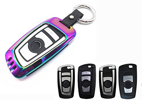 YUWATON Auto-Schutzhülle für Auto-Schlüsselanhänger für BMW 1Serie 2Serie 3Serie 525li 320li Auto Fernbedienung Gehäuse Autoschlüssel Dekoration, muti-color
