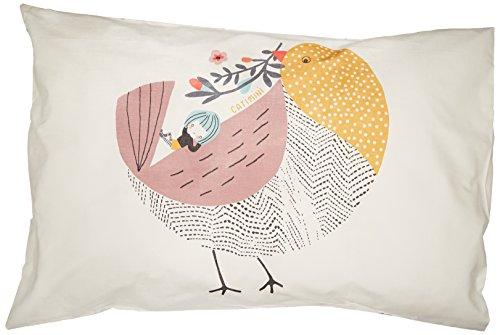 Catimini Taie d'oreiller, Coton, Multicolore, 50x75 cm