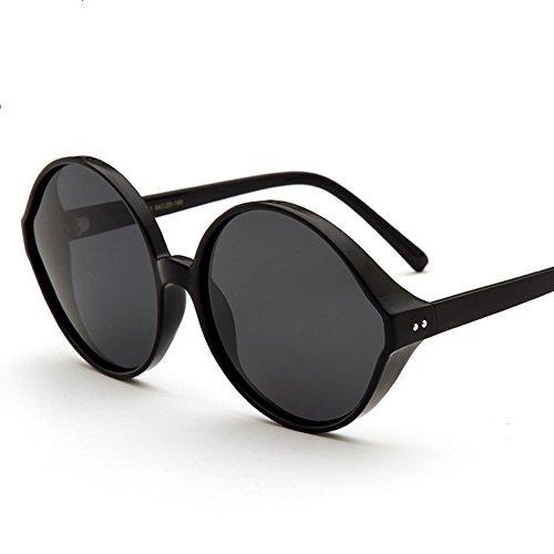 Z&HA Damen Polarisierte Sonnenbrillen - Runde Rahmenfarbe Große Brillen-Premium-Mode-Accessoires Geschenke Aviator Driving Glasses,Black