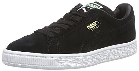 Puma Suede Classic+ - Sneakers Basses - Mixte Adulte - Noir (Black/Gold/White 87) - 36 EU (3.5 UK)