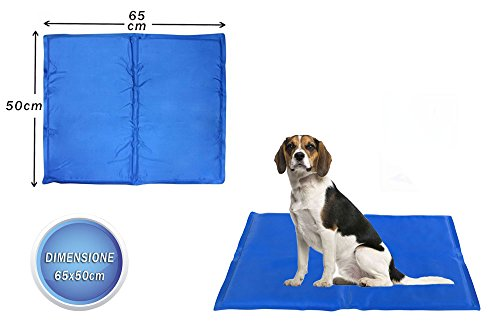 Vetrineinrete® Tappetino rinfrescante in gel per cani e gatti rinfresca in estate tappeto fresh mat refrigerante varie misure (65x50 cm) A34