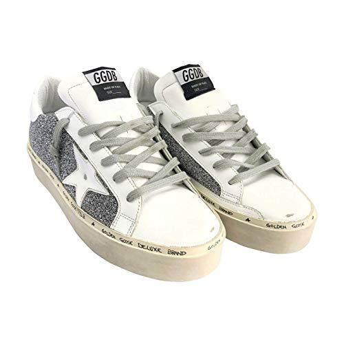 c1d0dd25169e2 Golden Goose Deluxe Brand Hi Star Swarovski Crystals Women Sneakers  G33WS945.A3 Size 38 (8 US) White/Silver