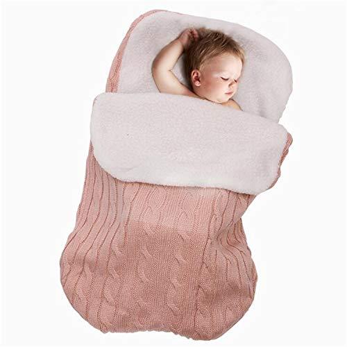 BABIFIS Neugeborenes Baby Wickeln Decke Schlafsack Plus Lamm Kaschmir für 0-12 Monate Baby, geeignet für Kinderwagen, Kinderbetten oder Kinderwagen
