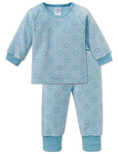 Schiesser Mädchen Zweiteiliger Schlafanzug Einhorn Baby Anzug 2-teilig, Blau (Türkis 807), 92