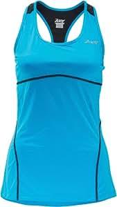 Zoot Damen Shirt Performance Run Swift Racerback, atomic blue/black, L, 2631265.1.1.L