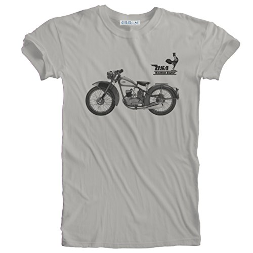934f13a44ece BSA Bantam Retro Vintage Classic1956 Motorcycle Illustration T-Shirt. Sizes  Small (34