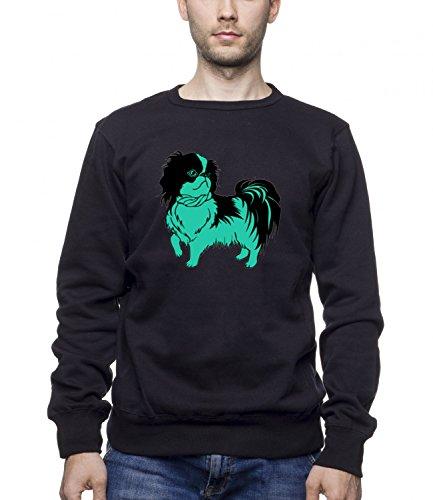 Three Monkeys Green Dog Animals Collection Men's Unisex Sweatshirt Nero Large