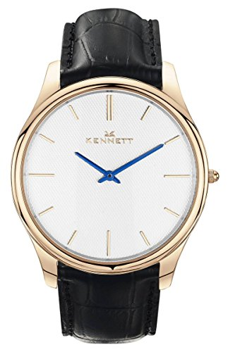 Mens Kennett Kensington Rose Gold White Black Watch KRGWHBK