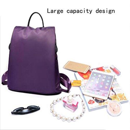 Nylon Rucksack Handtaschen Wild Wasserdicht Oxford Leinwand Freizeit Reiserucksack Pink