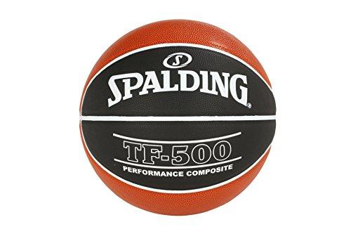 Spalding ACB Tf500 Sz. 7 (76-164Z) Balón de Baloncesto, Unisex Adulto, Naranja (Dark Orange) / Negro, 7