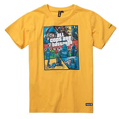 "PG Wear \""Bastards ACAB T-Shirt Yellow (XL)"