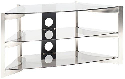 Techlink Skala Ecke Stehen, mit getöntes Glas Einlegeböden für TV (Stand Tv Techlink)