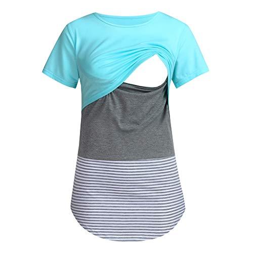 op | Mutterschaft-Trägertop, Maternity-T-Shirt und Schwangerschaft-Langarmshirt | Umstandsmode für die Stillzeit HEVÜY ()