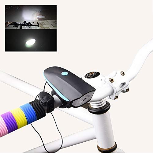 Airand Fahrradlampe Fahrradbeleuchtung Set LED Fahrrad Vorne Fahrradlicht Mit Bell USB Aufladbare Akku Fahrradleuchte IPX6 Wasserdicht Frontlicht 1200mAh Elektronisches Horn Lichtse (Elektronische Horn)