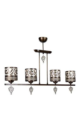 lamodahome Kronleuchter House Decor Braun Elegantes Accessoire 4Stück Dekorative Stilvolles, modernes Traditionelle hängen Deckenleuchte Beleuchtung Bestandteil für Wohnzimmer, Arbeitszimmer–Multi Varianten in Store.