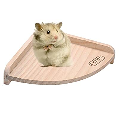 Zyurong Small Pet Wooden Cage Platform Shelf Jump Board Fan Shaped for Hamster, Rat,Cat, Dog, Totoro and Rabbit with Screw
