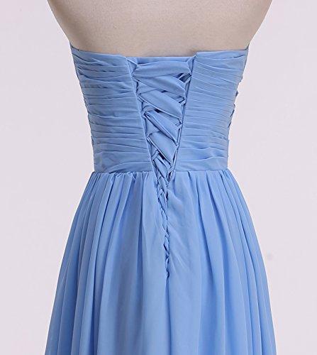 KekeHouse® A-Linie Maxi Brautjungkleid Mutter Tochter Abendkleid Plissiert Partykleid Blumenmkleid Gold