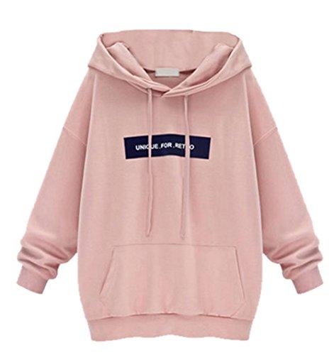 9b59a6ac38c8 Blansdi Damen Mädchen Frauen Herbst Winter Beiläufig Leicht Basic Hoodies  Kapuzenpullover Langarm Jacke Pullover Top Sweatshirt
