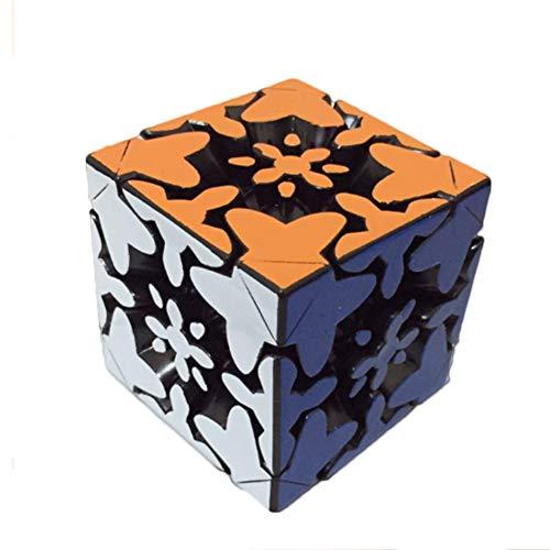 WXXW Ausrüstung Speed Cube 3x3 Magic Puzzle Stickerless Cube De Vitesse Magique Lisse Facile Àtourner Pour Jeu d'Entraînement Cérébral Ou Cadeau Noël Anniversaire Fête,Black