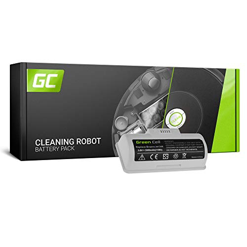 Green Cell® 4446040, UFE-ALT240ROB, BC674 Akku für Wischroboter, Roboter Bodenwischer iRobot Braava Jet 240 (SDI Li-Ion Zellen 3000 mAh 3.6V)