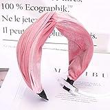 NPRADLA Femmes Bandeau Pure Color Hairband Noeud papillon Velvet Bandeau Serre-tête à Larges Bords